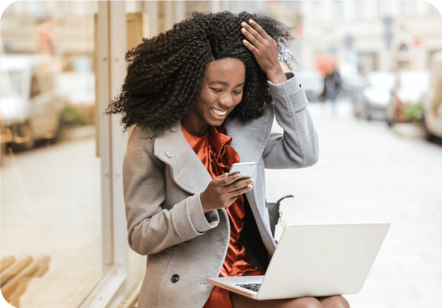 woman gets discount for texting software